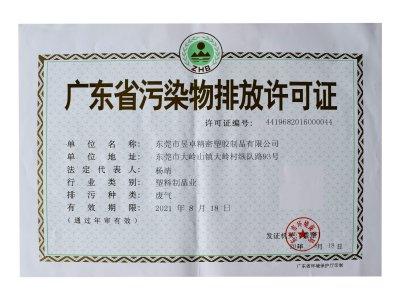 污染物排放许可证